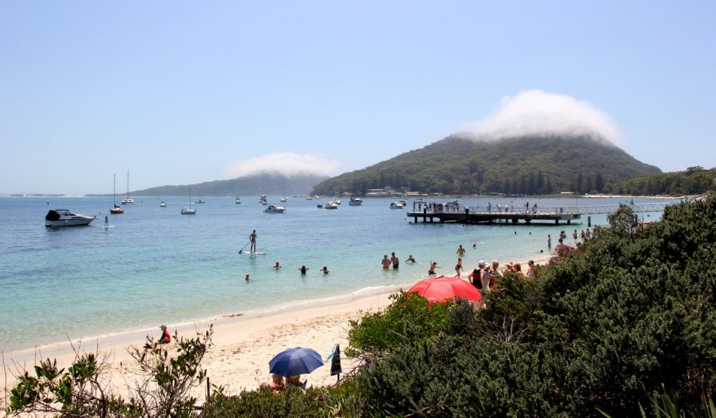Even at over 35 degrees of peak summer, lenticular clouds are seen forming at the hilltops from Shoal Bay