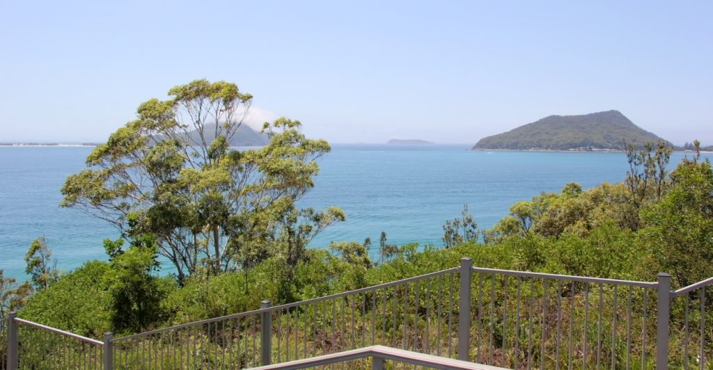 Views from the hill at Nelson bay lighthouse