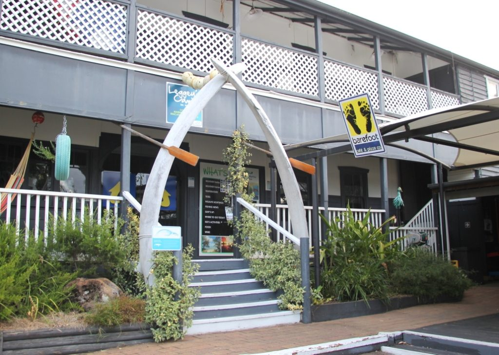 What looked like another quirky decor were actually whale jawbones at the NRMA Holiday Park