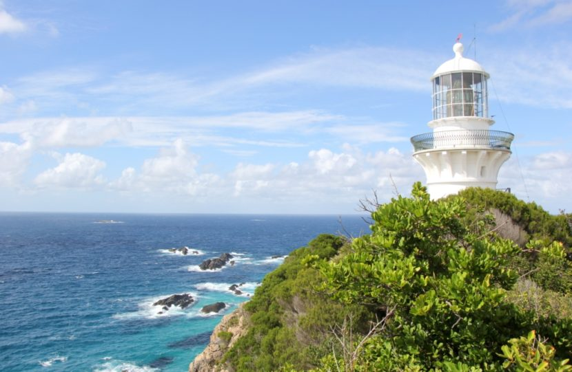 The Ssugarloaf Point lighthouse