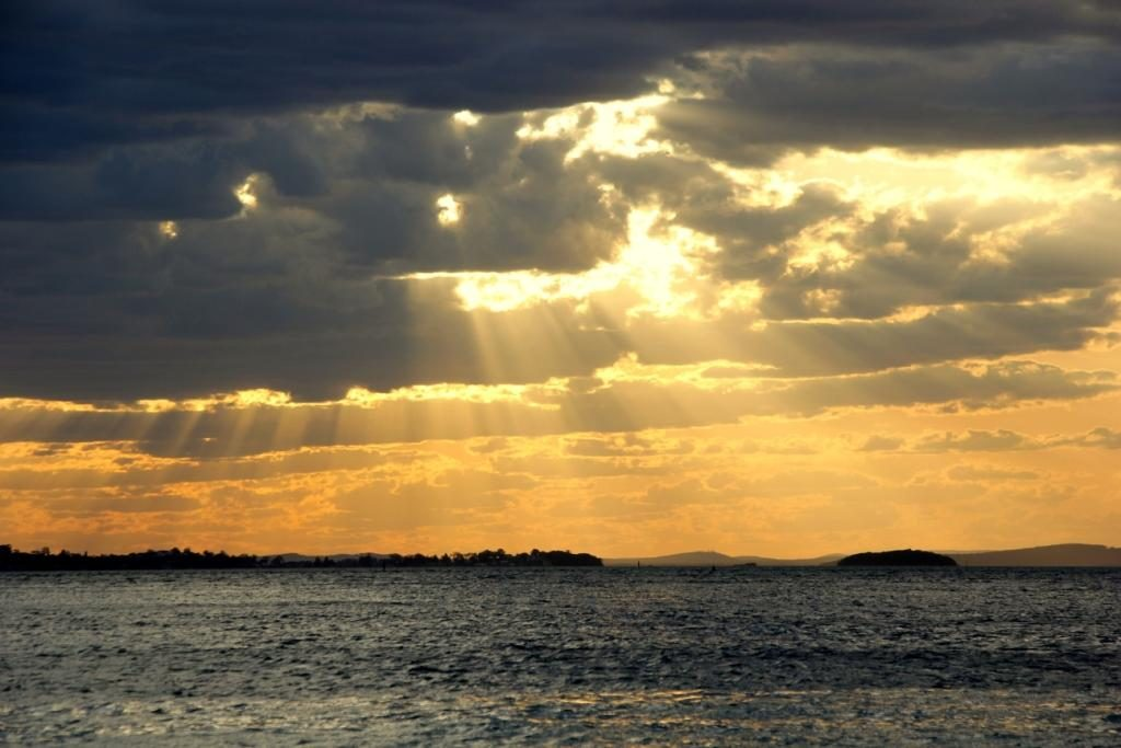 Rays of hope - a beautiful awe-inspiring sunset at Nelson Bay
