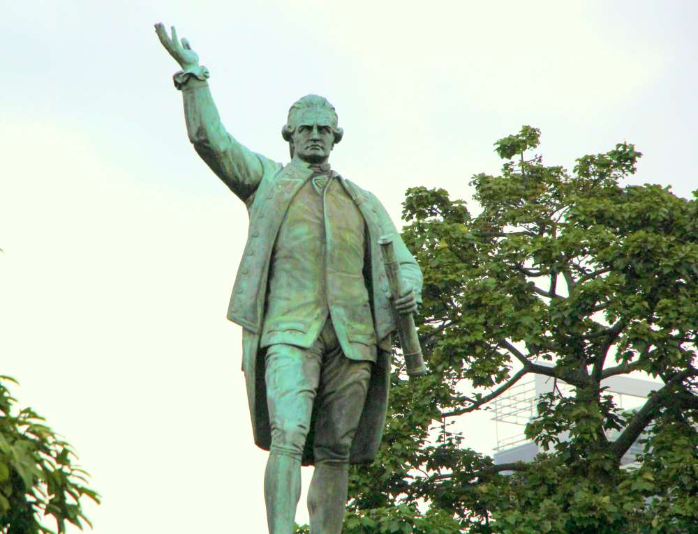 James Cook doesn't seem very happy: 'C'mon folks, I gave you an entire country and look at what you're doing to it :P