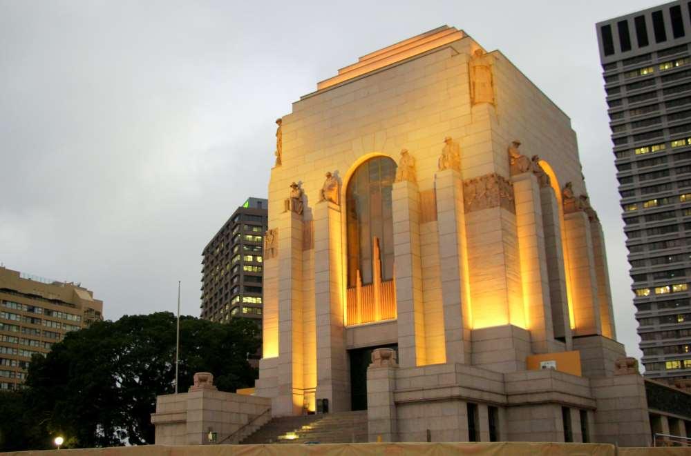 The ANZAC war memorial
