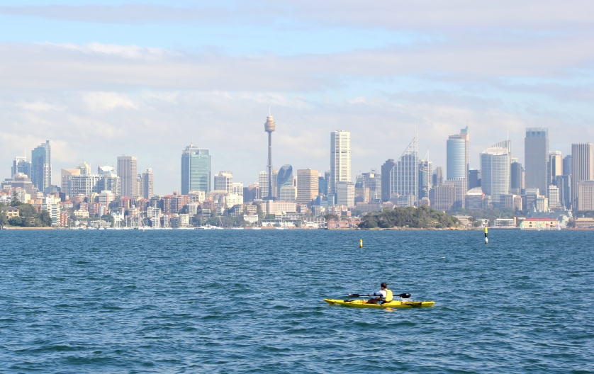 If you start from Watson's Bay, the ferry to the wharf will offer beautiful views of the city skyline...