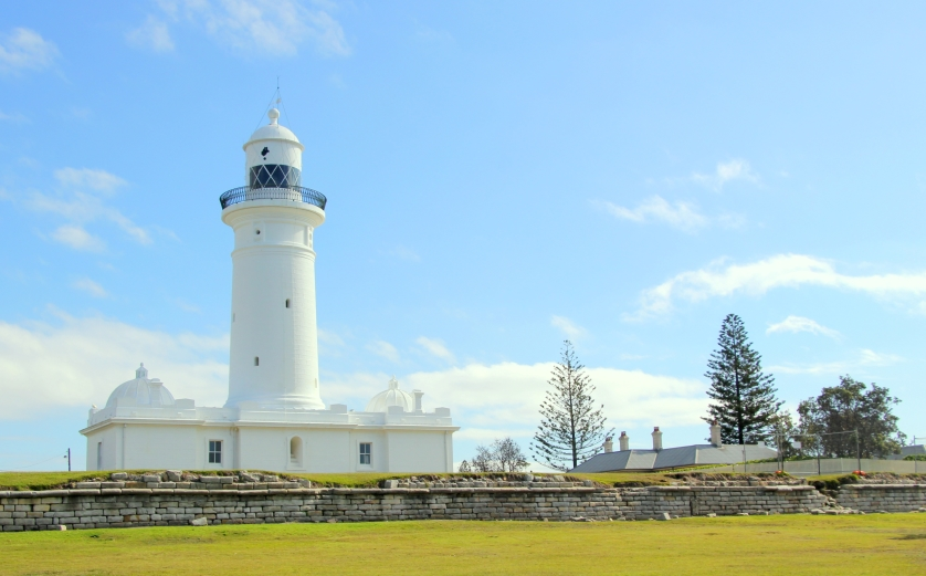 The Macquarie Lighthouse, the oldest in the country had an earlier structure raised in 1818. the current structure was completed in the 1880s