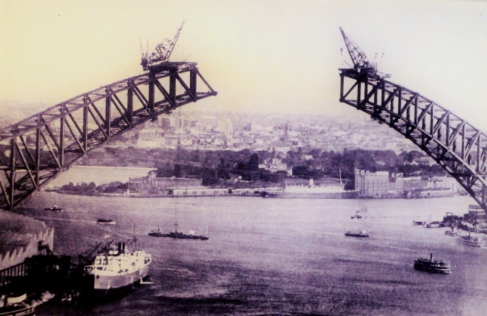 One from the archives - the Bridge under construction in the late 1920s
