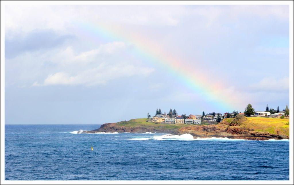 I visited Kiama after a wet morning, which left a few colourful surprises once the sun came up