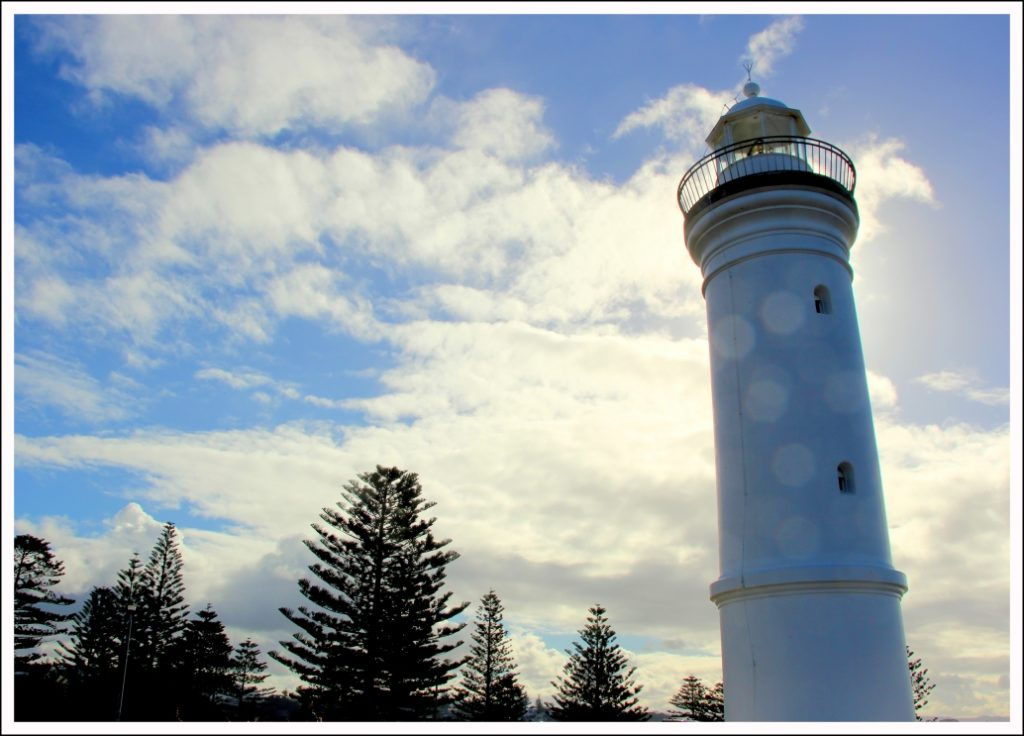 The Kiama lighthouse established in the 1880s helped ships navigate into the nearby harbour, carrying away stone for construction in Sydney