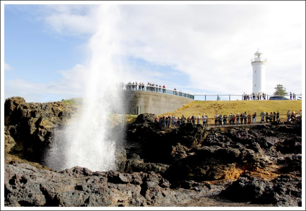 ...and there it blows; records indicate the blowhole sending water as high as 36 m, making it a a strong contestant for the world's largest blowhole