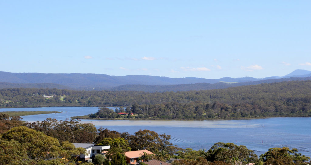 The view from the hill (at the Norfolk Pine Motel, Merimbula)