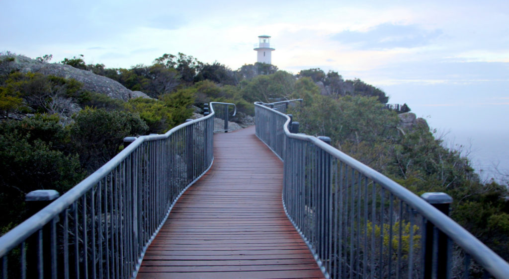 The Boardwalk to the Cape Tourville Lighthouse