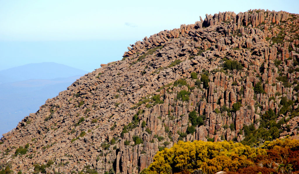 The Organ pipes of Mt. Wellington