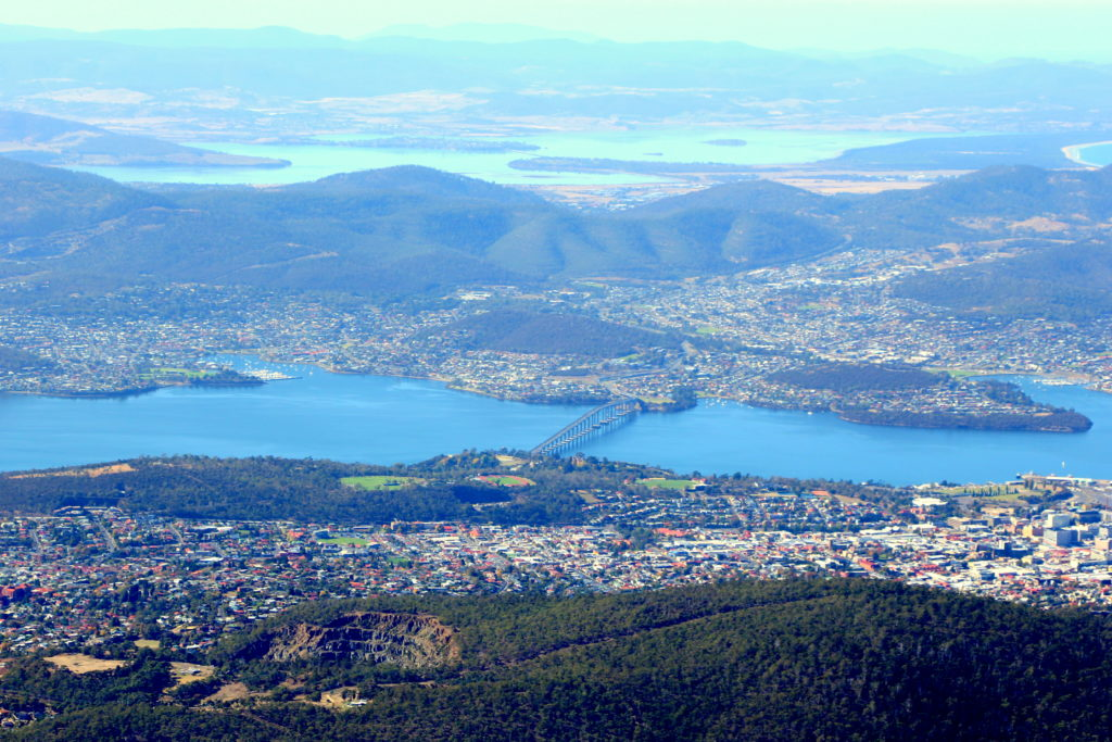 Hobart from the top