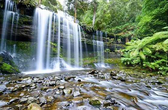 Russell falls mount field nationala park Tasmania